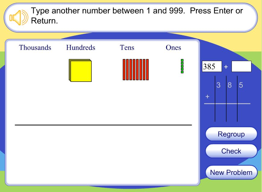 math worksheet : numbers and operations in base ten  3rd grade math at gca : Base Ten Blocks Addition Worksheets